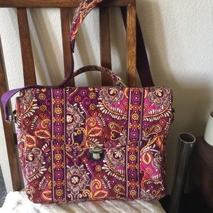 Vera Bradley Safari Sunset Briefcase Attaché Bag